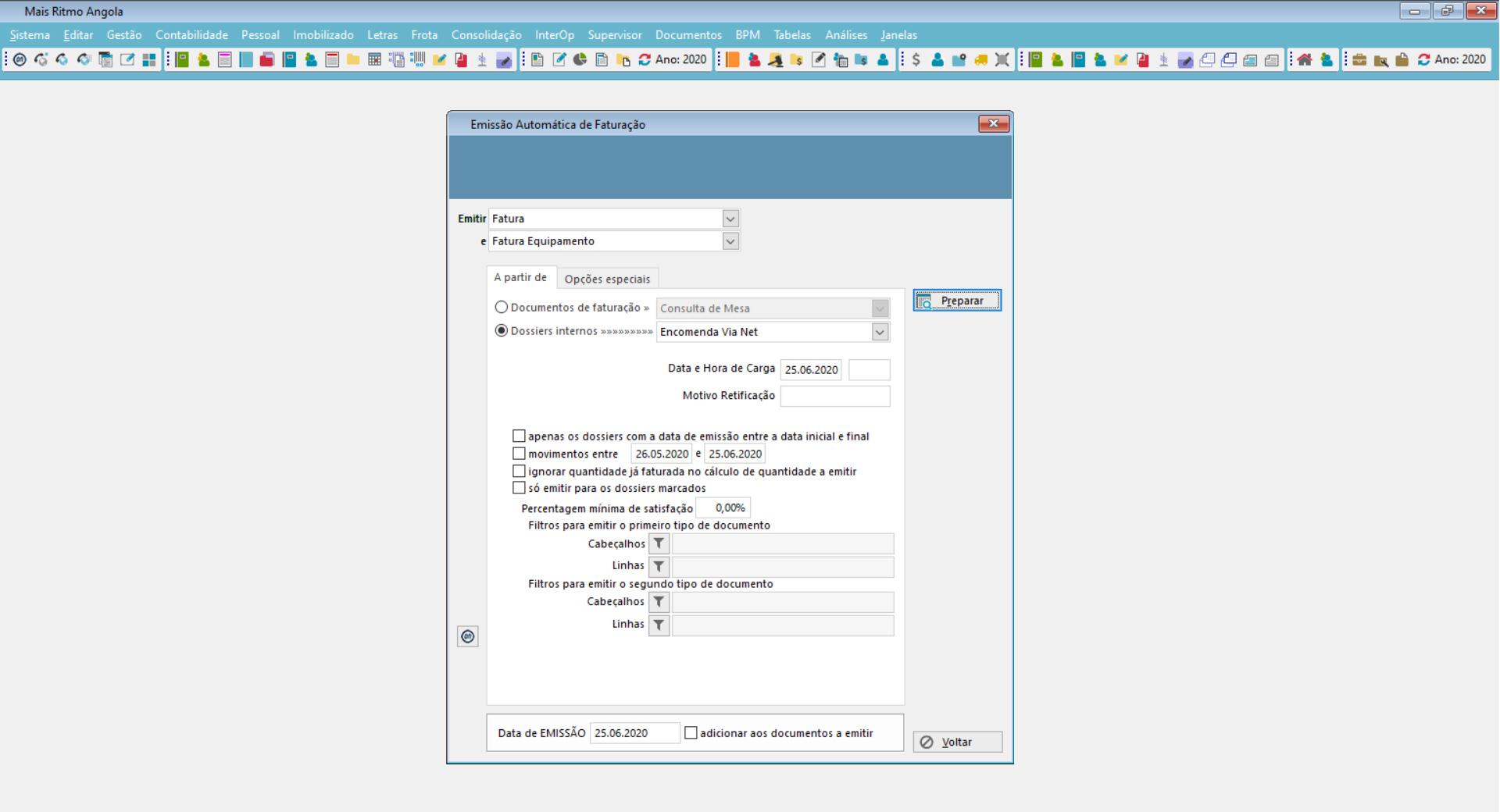 dashboard de software de gestão funcionalidades operacionais