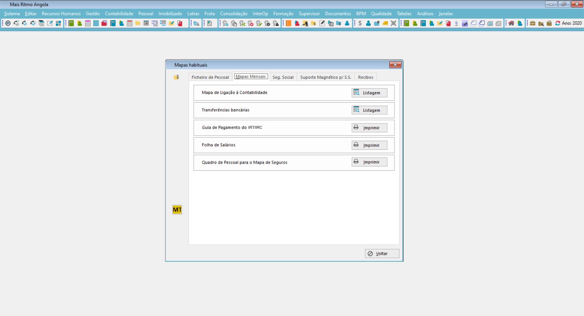 dashboard de listagens e mapas de rh