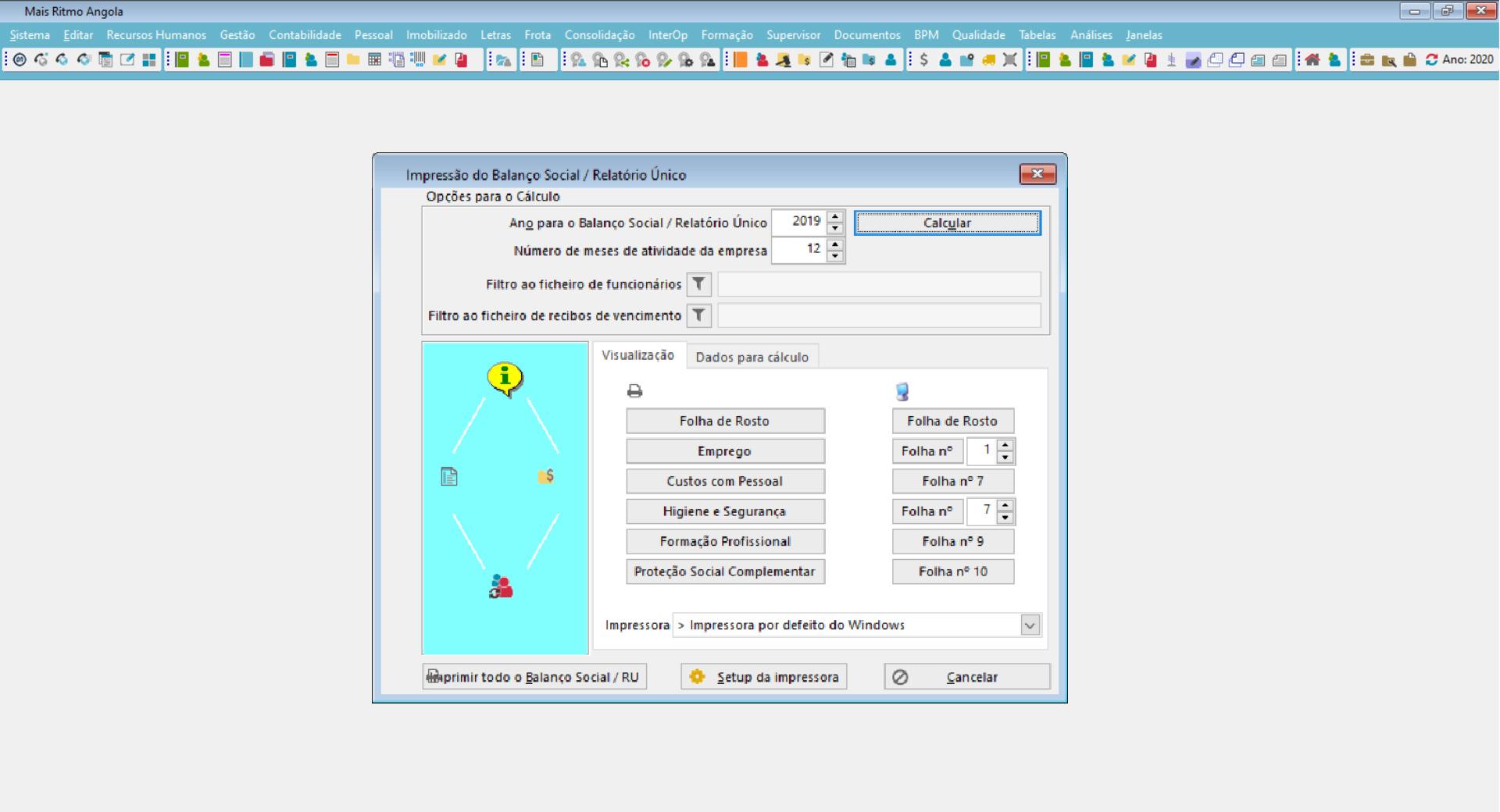 dashboard de software de gestão de saúde no trabalho