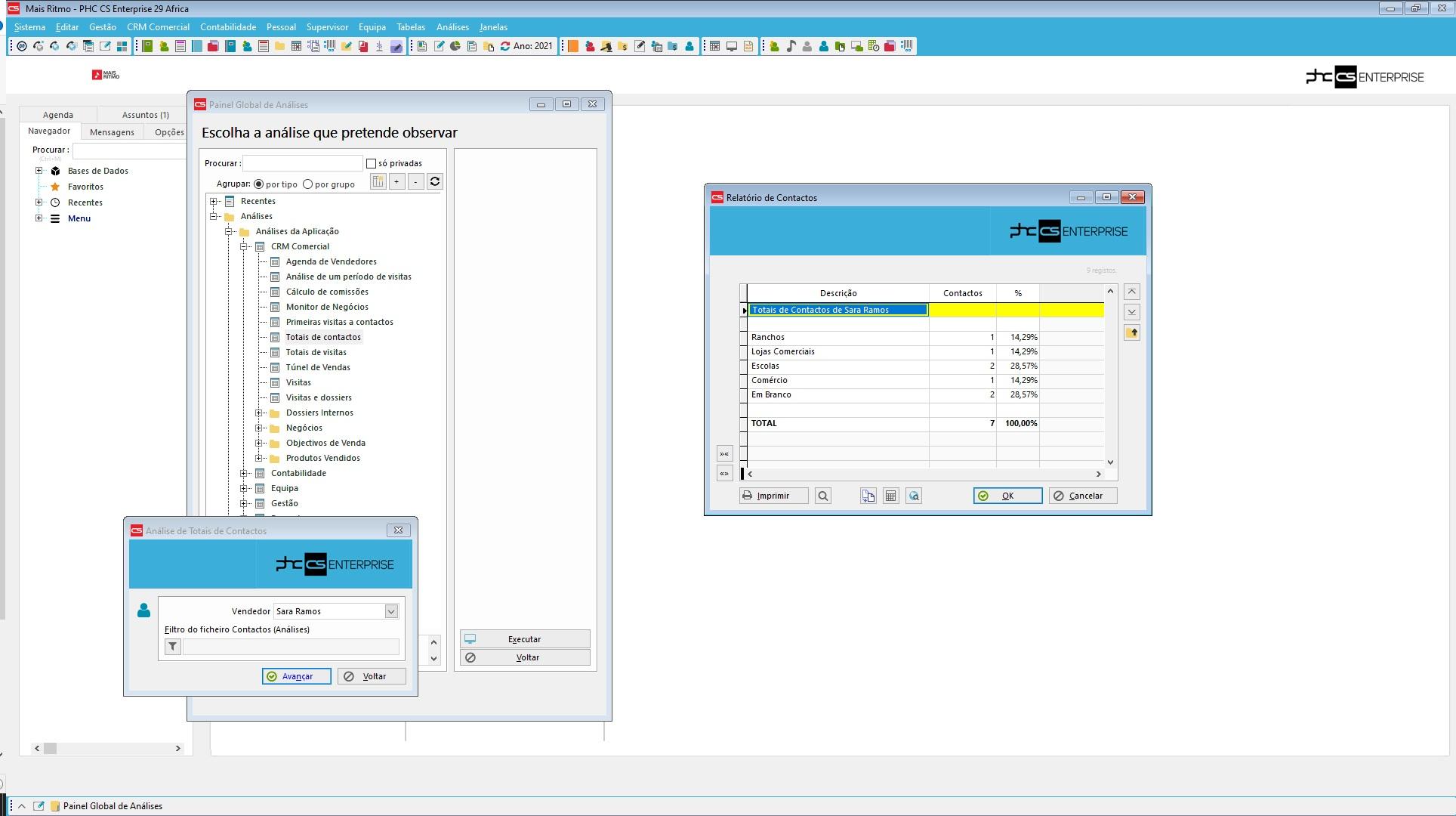 dashboard de software de crm análises e mapas