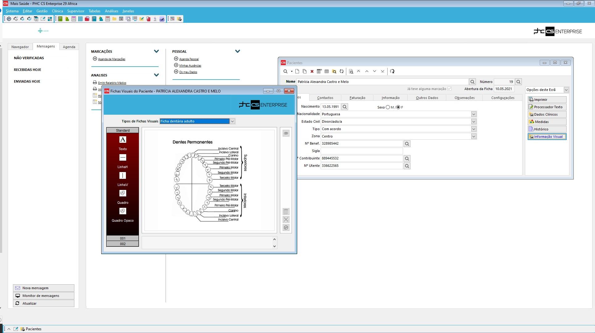 Software de gestão para clínicas Funcionalidades associadas aos pacientes