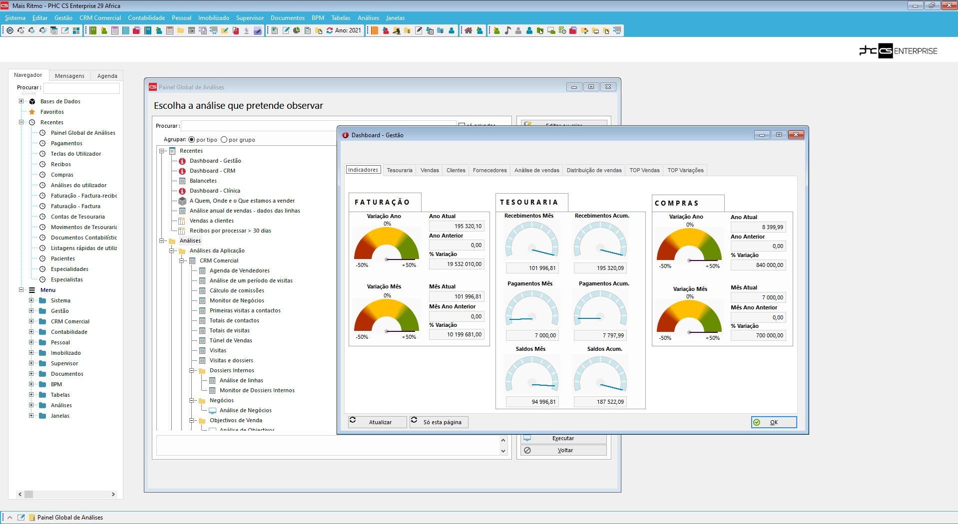 solução gestão finaceira software de gestão phc cs